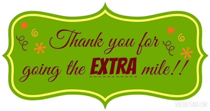 Nifty image for thanks for going the extra mile printable