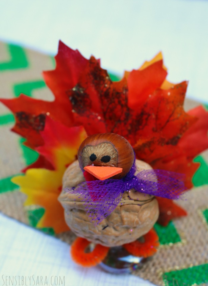 Walnut turkey tutorial a fall craft for thanksgiving for Turkey country arts and crafts